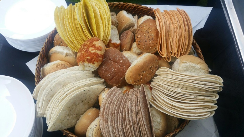 Variety of Fresh Bread Rolls and Wraps