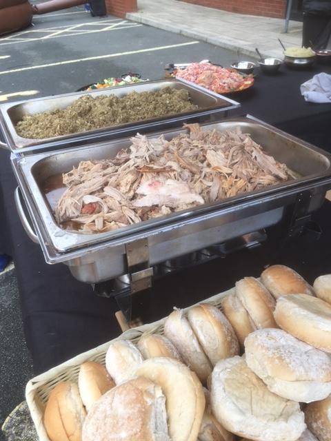 Hog Roast Set Up - Ready To Serve